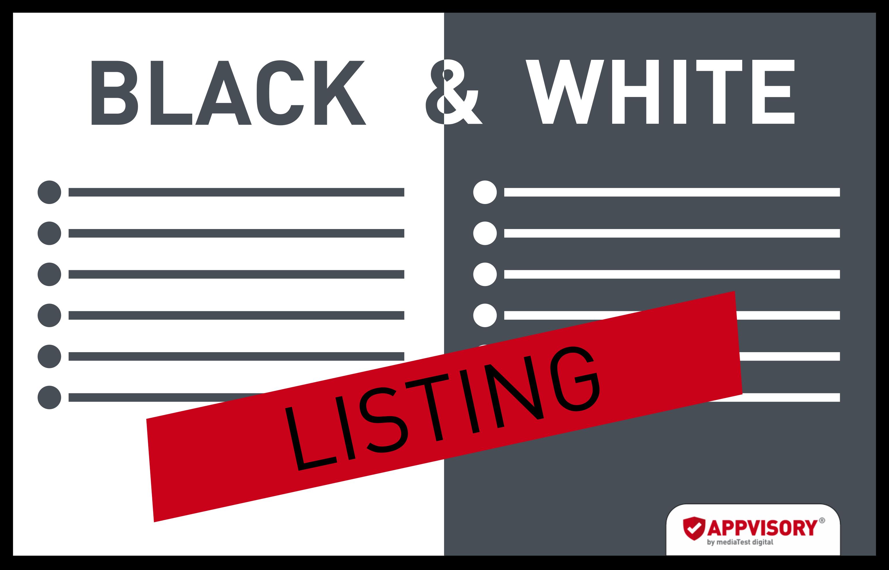 Black- und Whitelisting – Was ist das?