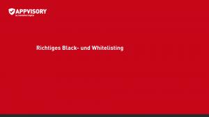 Appvisory_Webinar_Black&Whitelisting