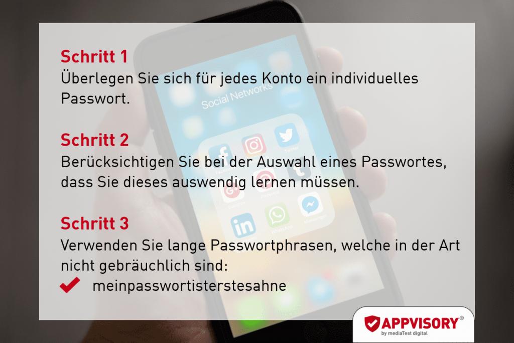 Passwort-Tipp 1 Appvisory
