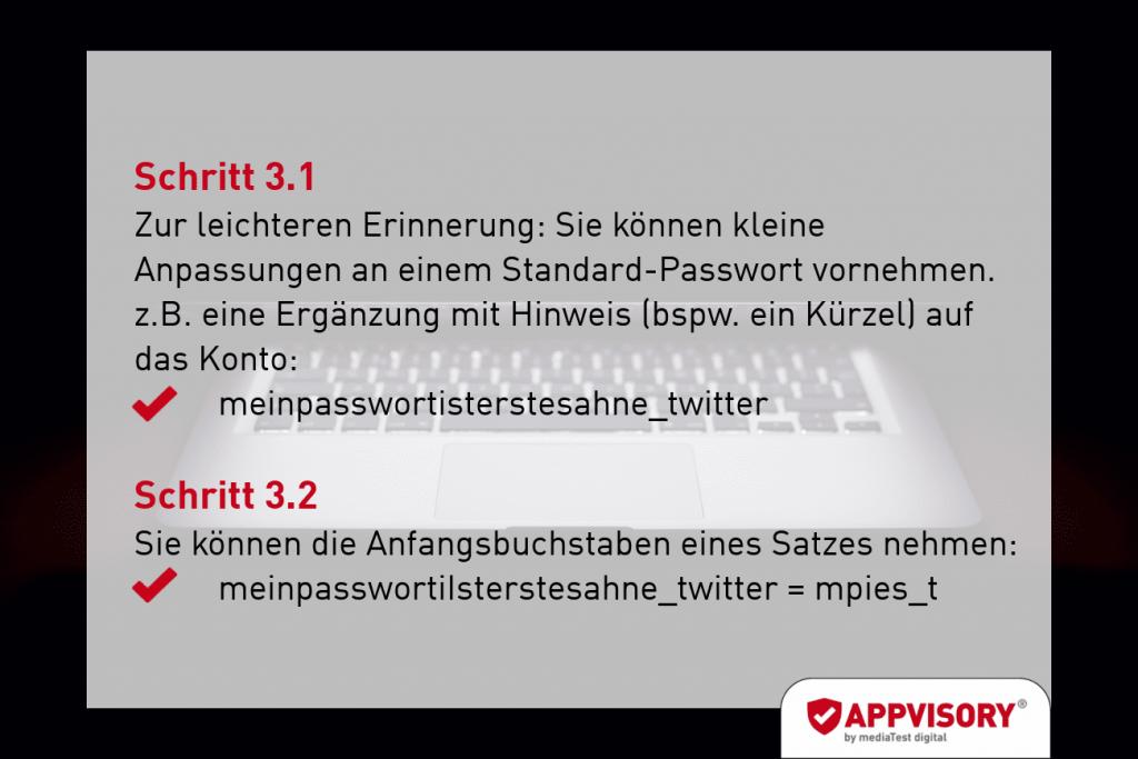 Passwort-Tipp 2 Appvisory