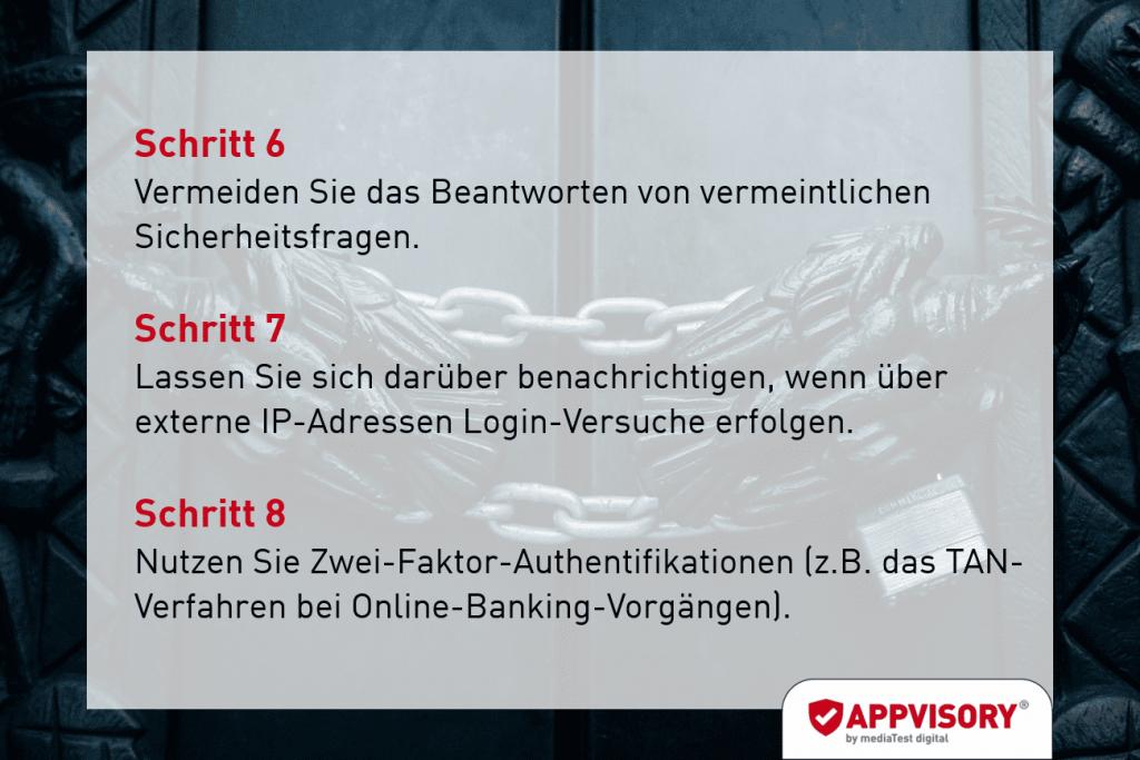 Passwort-Tipp 4 Appvisory