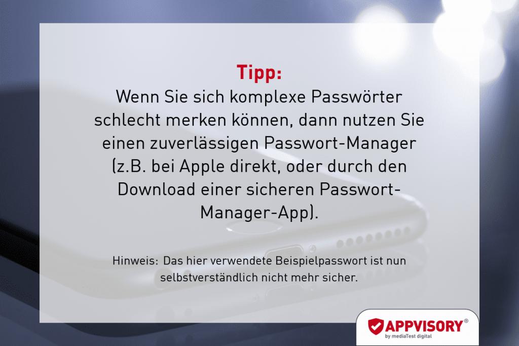 Passwort-Tipp 5 Appvisory